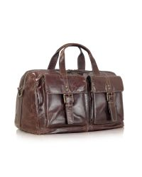 Fossil | Brown Dayton - Genuine Leather Duffle Bag for Men | Lyst