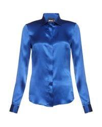 Just Cavalli | Blue Satin Shirt | Lyst