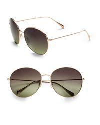 Oliver Peoples - Metallic Blondell Round Metal Sunglasses - Lyst