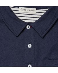 Oliver Spencer | Blue Navy Jersey Polo Shirt for Men | Lyst