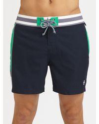 Original Penguin | Orange Volley Swim Trunks/solid for Men | Lyst