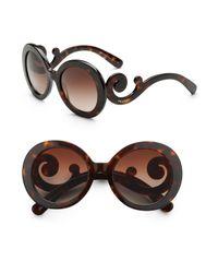 Prada | Black Baroque Sunglasses | Lyst