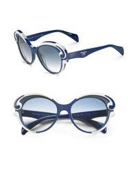 Prada - Blue Baroque Sunglasses - Lyst