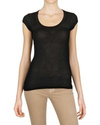 Vanessa Bruno | Black Ribbed Jersey T-shirt | Lyst