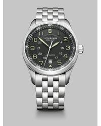 Victorinox | Metallic Airboss Automatic Bracelet Watch for Men | Lyst
