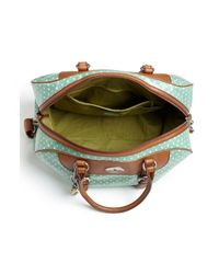 Fossil | Green Vintage Key-per Coated Canvas Duffel Bag | Lyst