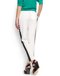 Mango   White Loose fit Trouser   Lyst
