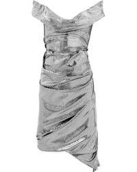 Vivienne Westwood Red Label   Silver Asymmetric Metallic Jersey Dress   Lyst