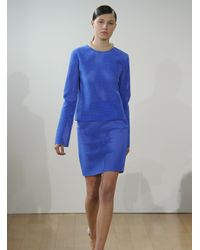 J.W.Anderson | Blue J W Anderson Womens Caged Neoprene Skirt | Lyst