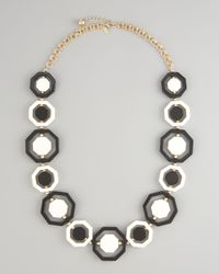 kate spade new york - Black Long Octagonal Necklace - Lyst
