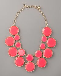 kate spade new york | Pink Bryce Bib Necklace | Lyst