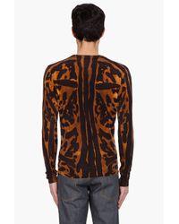 Alexander McQueen | Multicolor Leopard V-neck Sweater for Men | Lyst
