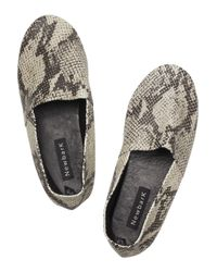 Newbark - Natural Sid Faux-python Leather Shoes - Lyst
