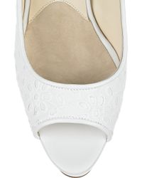 Brian Atwood - White Wagner Peep-toes - Lyst