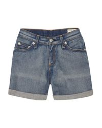 Rag & Bone | Blue High-rise Stretch-denim Shorts | Lyst