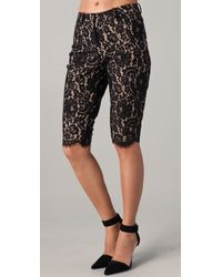 Robert Rodriguez - Black Lace Knee Shorts - Lyst
