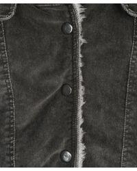 Theory | Gray Deway Corduroy Sherpa-lined Jacket | Lyst