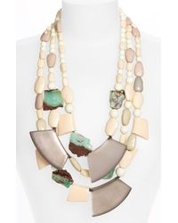 Alexis Bittar   Natural Okeeffe Long Triple Strand Necklace   Lyst