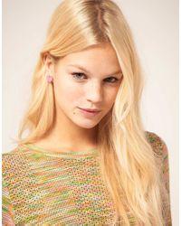 ASOS Collection - Pink Asos Digital Heart Stud Earrings - Lyst