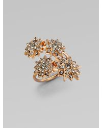 Ca&Lou - Metallic Etoile Sparkle Coil Ring - Lyst