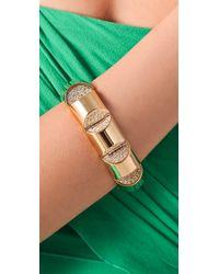 CC SKYE - Metallic Gold Nugget Bracelet - Lyst