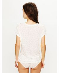 Free People - White Layering Me Long Sleeve Top - Black - Lyst