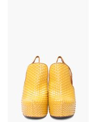 Jeffrey Campbell - Yellow Darian Woven Front Wedge - Lyst
