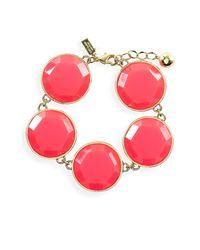 kate spade new york | Pink Bryce Reversible Line Bracelet | Lyst