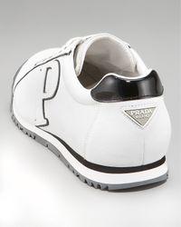Prada | White P Logo Sneaker for Men | Lyst