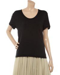 T By Alexander Wang - Black Cotton-jersey T-shirt - Lyst