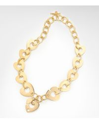 Tory Burch | Metallic Corazon Necklace | Lyst