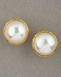 Majorica Mabe Pearl Earrings, White