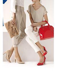 Mango | Natural Leather Messenger Bow Handbag | Lyst