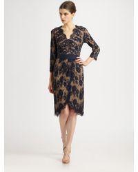 Tadashi Shoji | Black Lace Tulip Skirt Dress | Lyst