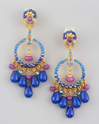 Jose & Maria Barrera | Multicolor Filigree Chandelier Earrings | Lyst