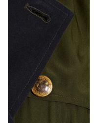 Gryphon   Green Silk Trench Dress   Lyst