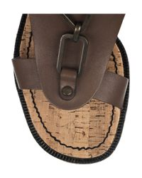 See By Chloé - Brown Chain-detailed Cork Wedges - Lyst