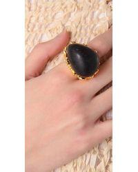 Alexis Bittar - Metallic Baroque Black Coal Resin Ring - Lyst