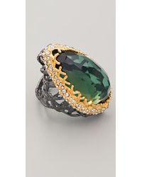 Alexis Bittar | Metallic Gunmetal Stone Woven Ring | Lyst
