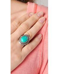 Club Monaco - Metallic Trisha Turquoise Ring - Lyst