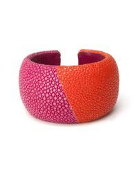 DANNIJO - Pink Preorder Colorblock Stringray Cuff: Sun and Coral - Lyst