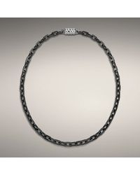 John Hardy - Gray Stainless Steel Medium Chain Necklace with Magnetic Clasp for Men - Lyst