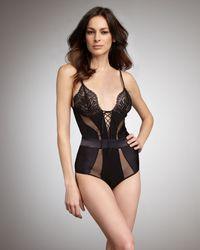 La Perla   Black Belle Bodysuit   Lyst