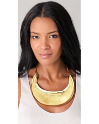 Mettle - Metallic Neck Plate with Leather Tie - Lyst