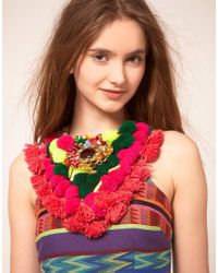 ASOS Collection | Multicolor Asos Mex Tex Large Pom Pom Necklace | Lyst