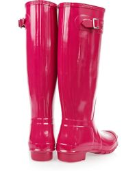Hunter   Red Original Tall Wellington Boots   Lyst