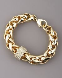 Janis By Janis Savitt | Metallic Gold Woven Bracelet, Large | Lyst