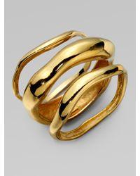 Kara Ross | Metallic Wave Bangle Bracelet Set | Lyst