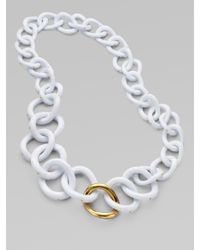 Kara Ross | White Chunky Resin Link Necklace | Lyst