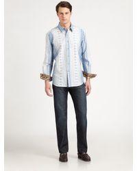 Robert Graham | Blue Sentosa Patterned Sportshirt for Men | Lyst